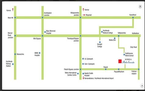 Sobha Bela Encosta Location Map