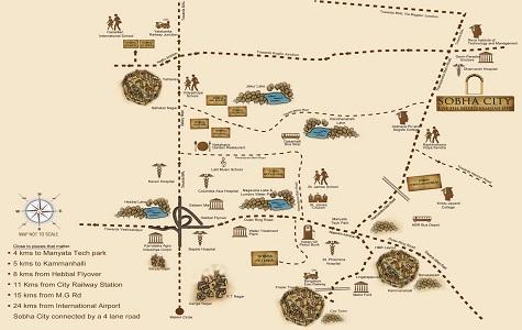 Sobha City Location Map