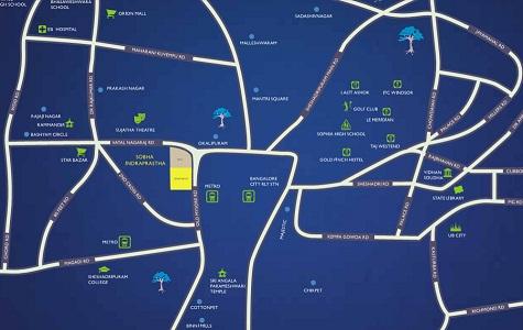 Sobha Indraprastha Location Map
