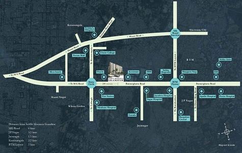 Sobha Morzaria Grandeur Location Map