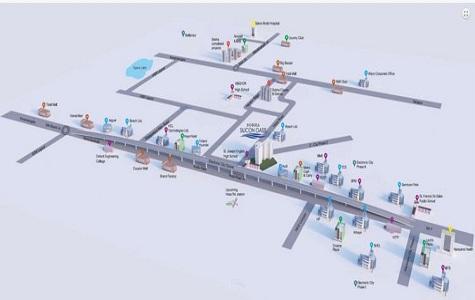 Sobha Silicon Oasis Location Map