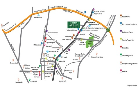 Sobha The Park & The Plaza Location Map