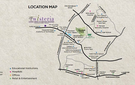 Brigade Wisteria Location Map