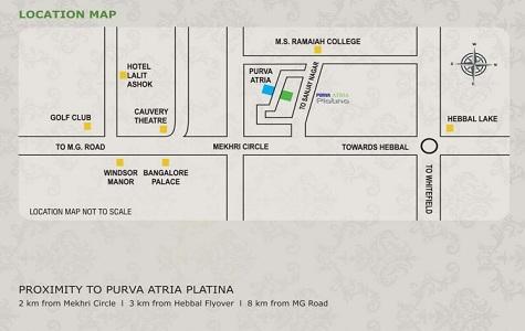 Purva Atria Platina Location Map