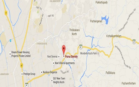 Purva Eternity Location Map