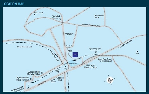 Purva Midtown Residences Location Map