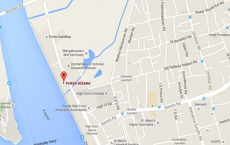 Purva Oceana Location Map