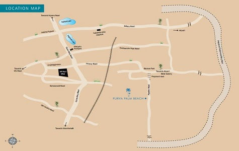 Purva Palm Beach Location Map