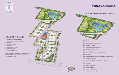 Purva Sky Condos Series I Master Plan