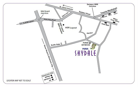 Purva Skydale Location Map