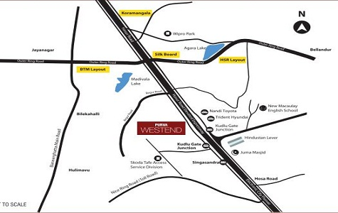 Purva Westend Location Map