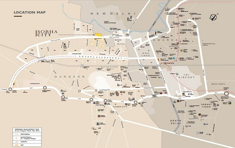 Sobha City Delhi Location Map