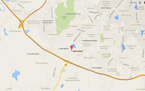 Sobha Gladiola Location Map