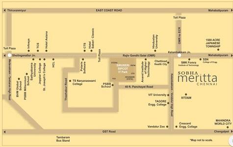Sobha Meritta Location Map